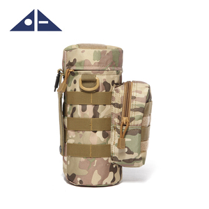 Water Bottle Pouch Water-repellent Zipper Camo Water Bottle Tactical Military Pack Bag for Travel Climbing
