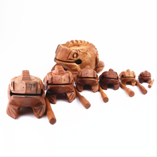 Home Office Decoration craft animals Wooden Traditional Craft Lucky Frog