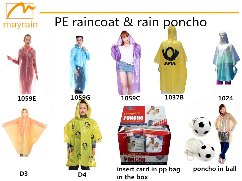 Keychain Attached Disposable Poncho In Ball,Disposable Ball Raincoat,Disposable Pe Rain