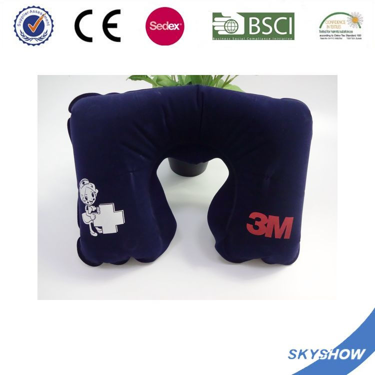 Most Popular Creative Colorful inflatable travel neck pillow
