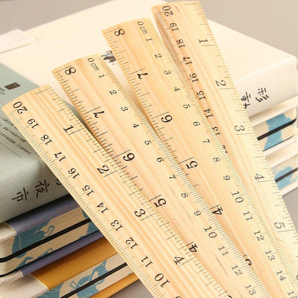 Houten Briefpapier Ruler Meten Tekening Sjabloon Heerser Student Kids Stencil Regel Kantoorbenodigdheden