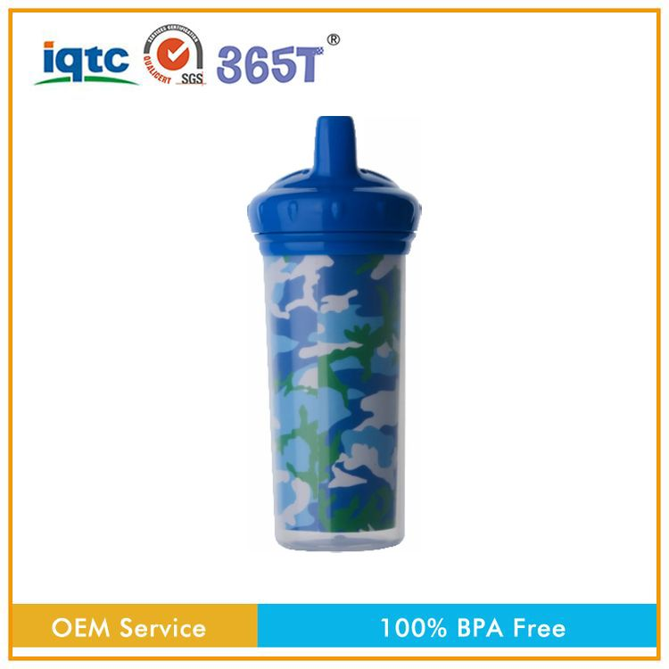 BPA PVC and Phthalate Free crazy selling easy to use plastic baby feeding training drinking bottle