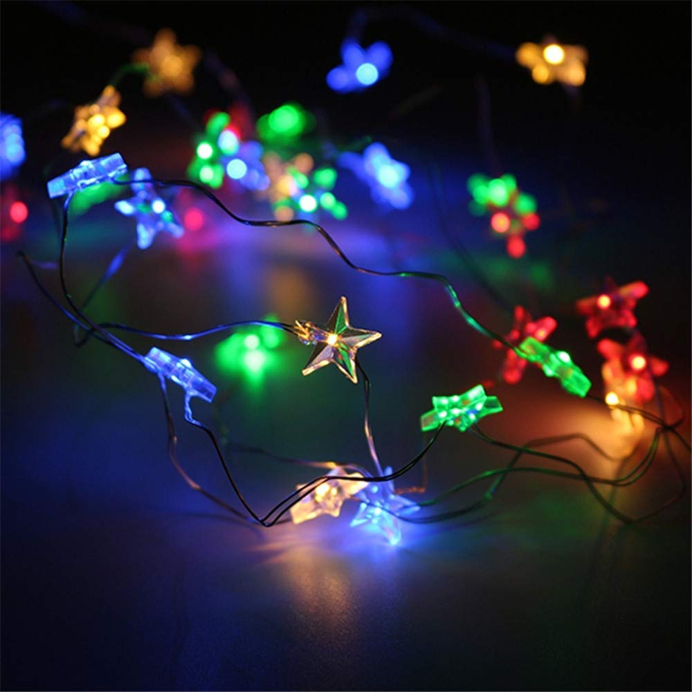 Yezijin Halloween Lamp String, Star Light Cozy String Fairy Lights for Bedroom Party with 30 LED Beads 3M (Multicolor)
