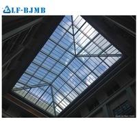 Xuzhou LF construction hall steel shed structure tempered glass skylight dome roof
