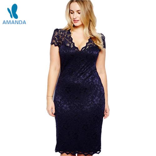 7dc12d172a4 Get Quotations · 2015 big size woman long dresses bodycon sleeve Deep V-neck  plus size dress women
