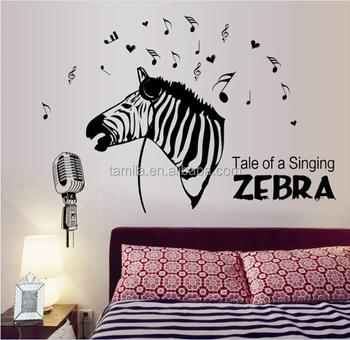 Zebra Wandaufkleber Fur Kinderzimmer Diy Hauptdekorationen