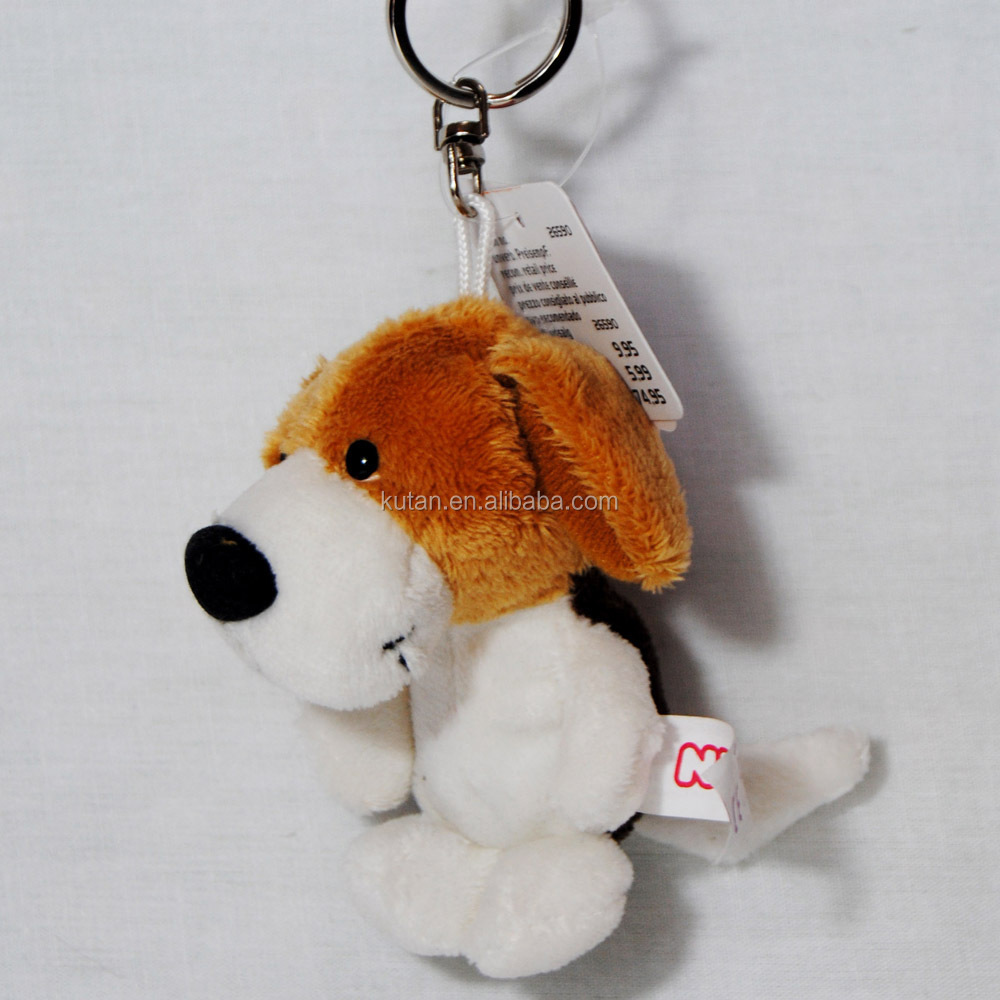 High quality promotional logo printing cheap price custom stuffed plush lovely dog keychain