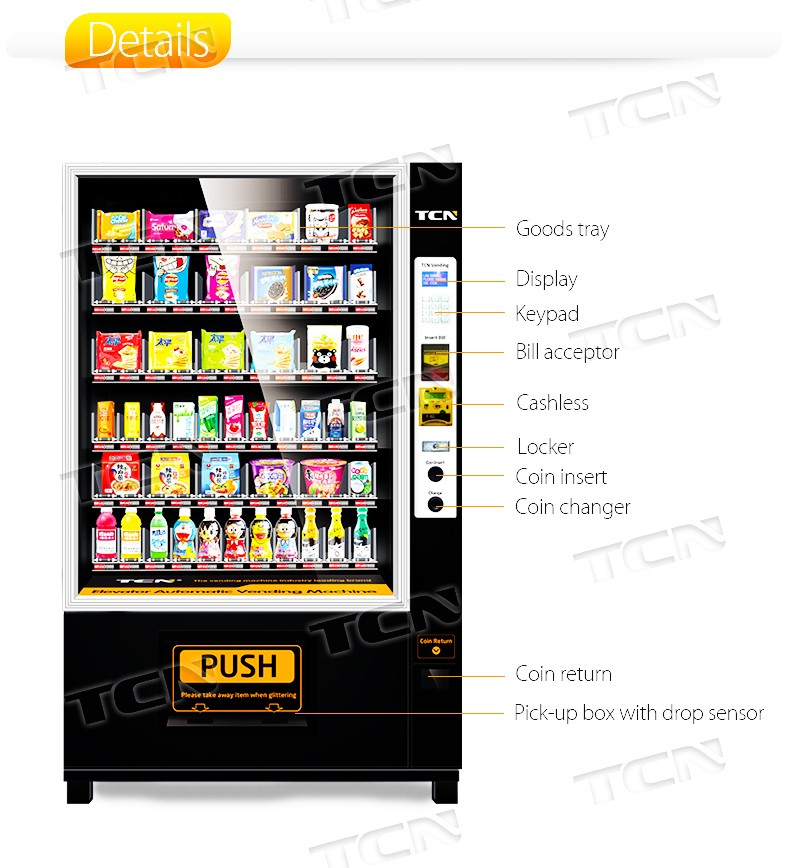 TCN Vending Machine with Elevator, View Vending Machine with Elevator, TCN  Product Details from Hunan Zhongji Technology Co , Ltd  on Alibaba com