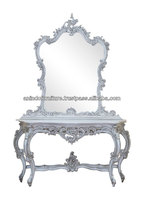 Burlesque Hand Carved Console Table with Mirror