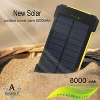 outdoor 80000mah portable solar power banks wiht led lights
