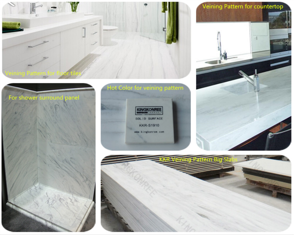 Shower Surround Acrylic Solid Surface Tub Wall Panels