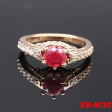 New wholesale fashion gold design ruby stone ring