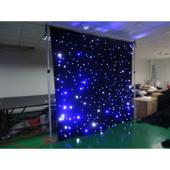 RGB Tri Color 4X6m led star backdrop /LED cloth curtains