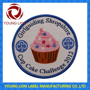cartoon cotton embroidery badges for children's coats