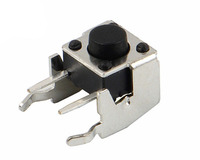 KaiFeng TS-0097 Black Pressure Control Switch Side Insert 2 Pin Tact Switch With Bracket