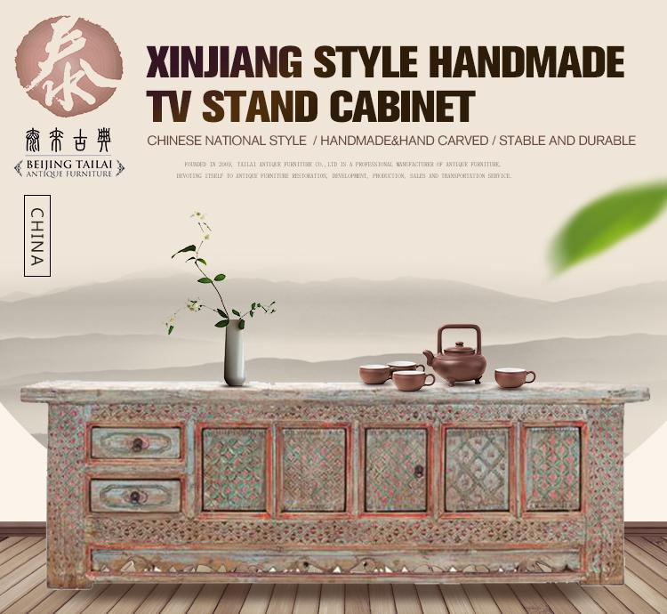 Sinkiang Style Oriental Bois Salon Meuble Tv Buy Meuble Tv Meuble