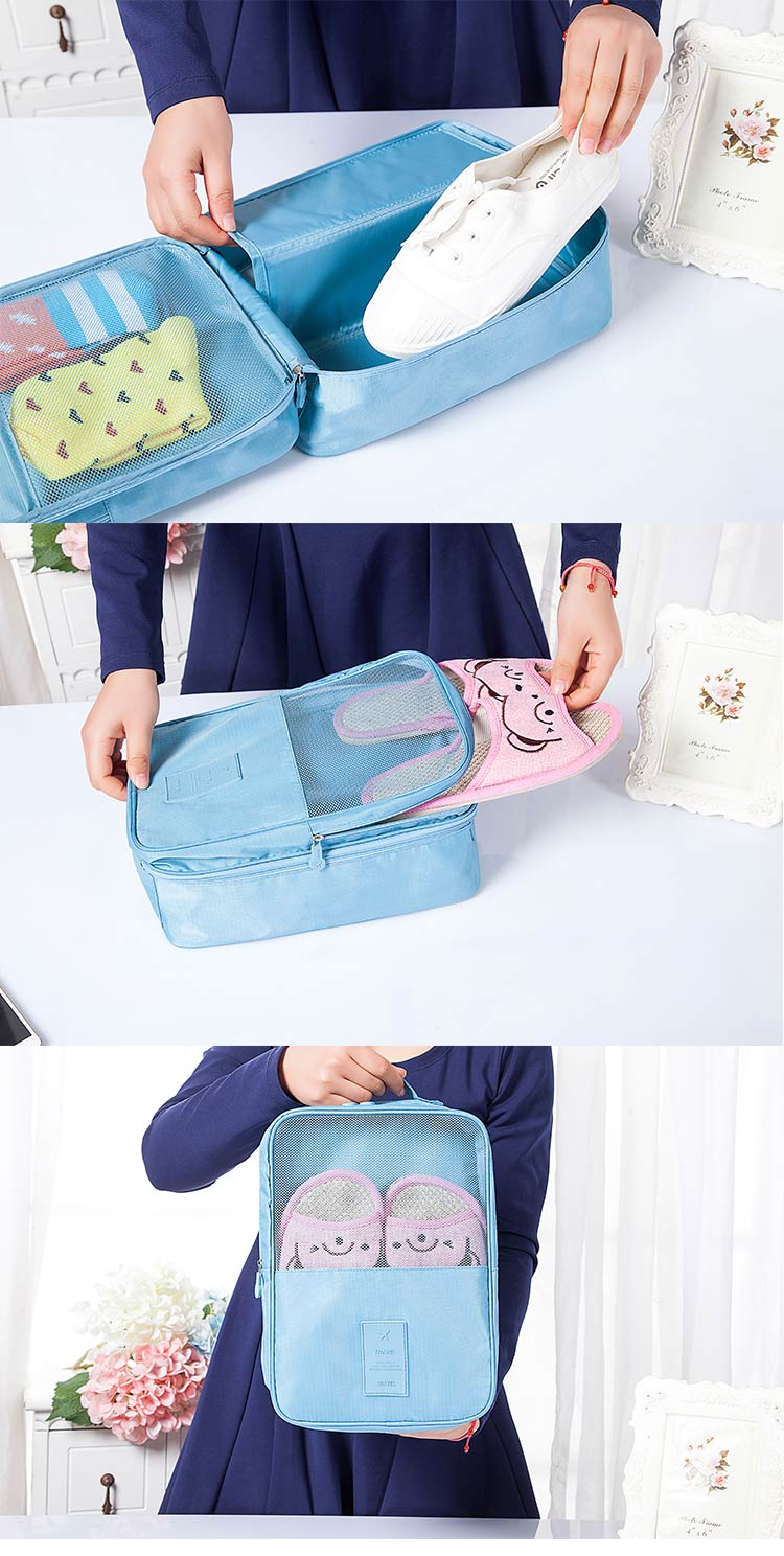 Waterproof Travel Shoes Bag 3 Layer Multiple Purpose Shoes Organizer and shoe storage bag