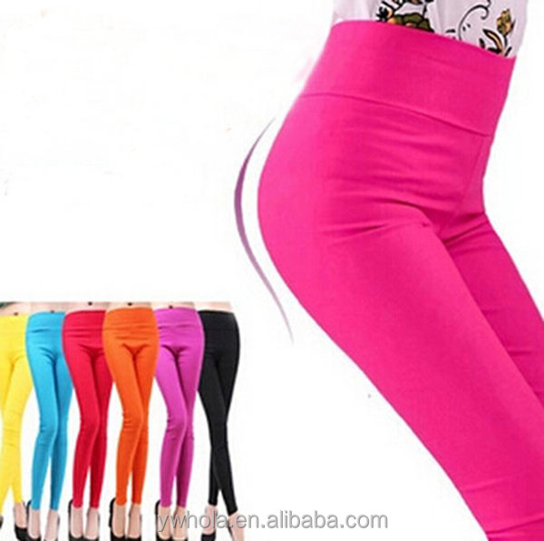 Newest fashion wholesale Soft Leggings Spring Casual Women Skinny Stretchy Colorful Leggings Funky Leggings For Women