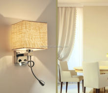 Hotel gooseneck led headboard wall lamp retractable led reading lamp