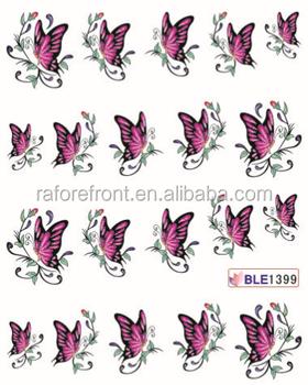 Personalizar Suministros De Uñas De Transferencia De Agua De Uñas Arte Y Pegatinas Para Uñas De Arte Diseño De La Mariposa Buy Calcomanía De