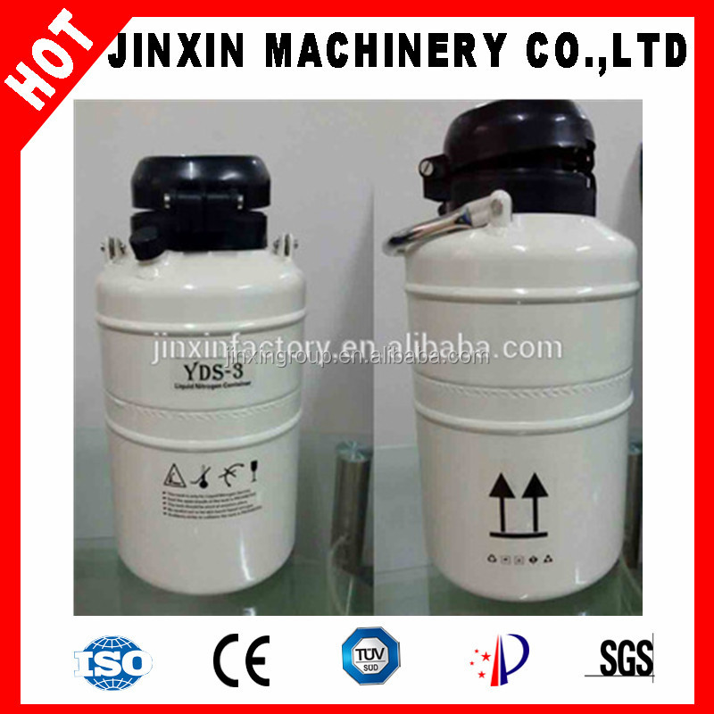 3L portable small capacity liquid nitrogen container for artificial insemination in animal