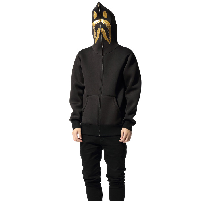 Latest custom men fashion style fancy full face zip hoodies