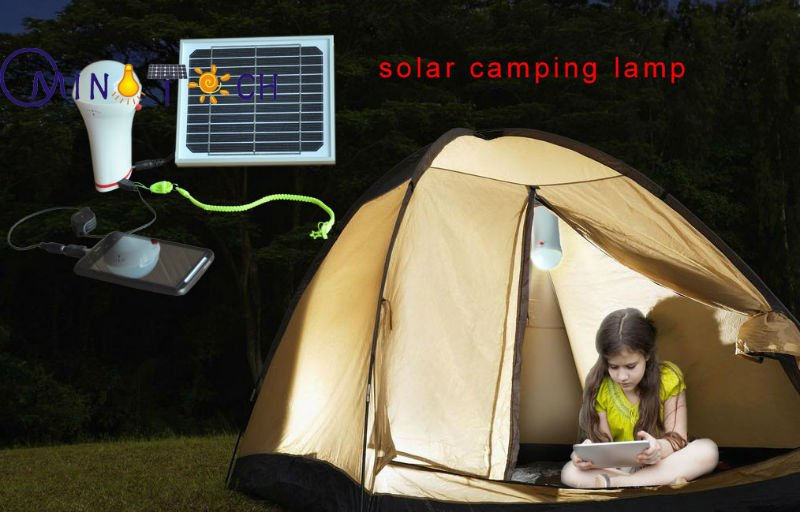 Solar home light LED solar lamp for home USB port for phone