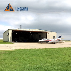China Prefab portable aircraft hangar modular steel structure building design layout cost design supplies