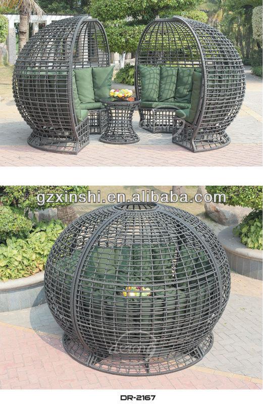 Outdoor Furniture Garden Sectional Ball Shape Gazebo Sofa Set With Flower  Parasol - Buy Ball Shape Gazebo Sofa Set,Rattan Outdoor Furniture ...