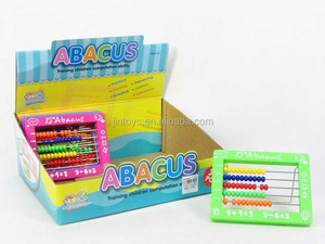 Kids stationery toy educational abacus toys 32 in 1 plastic mini abacus