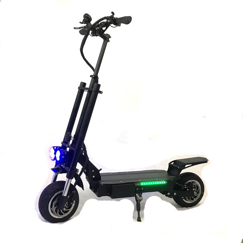 Newest hot most powerful electric scooter 60v 72v 5600w 3200w dual motor off road tyre adults foldable electric scooter, Black