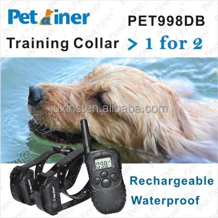 2014 New Updated Electric Dog Training Shock Collars PET998DB-2 Electronic Barking Dog Alarm