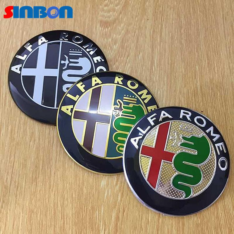 2015 hot sale 2pcs 74mm alfa romeo car logo front emblem rear badge sticker for mito 147 156 159. Black Bedroom Furniture Sets. Home Design Ideas
