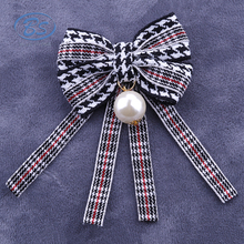 2018 B18002Z Latest fashion pearl bowknot brooch ties
