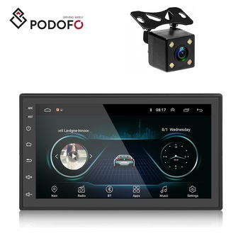"Podofo Android 8.1 Car DVD Player 2 Din GPS Stereo 7"" Car MP5 Player with Bluetooth WIFI GPS FM Radio Receiver + Rear Camera"