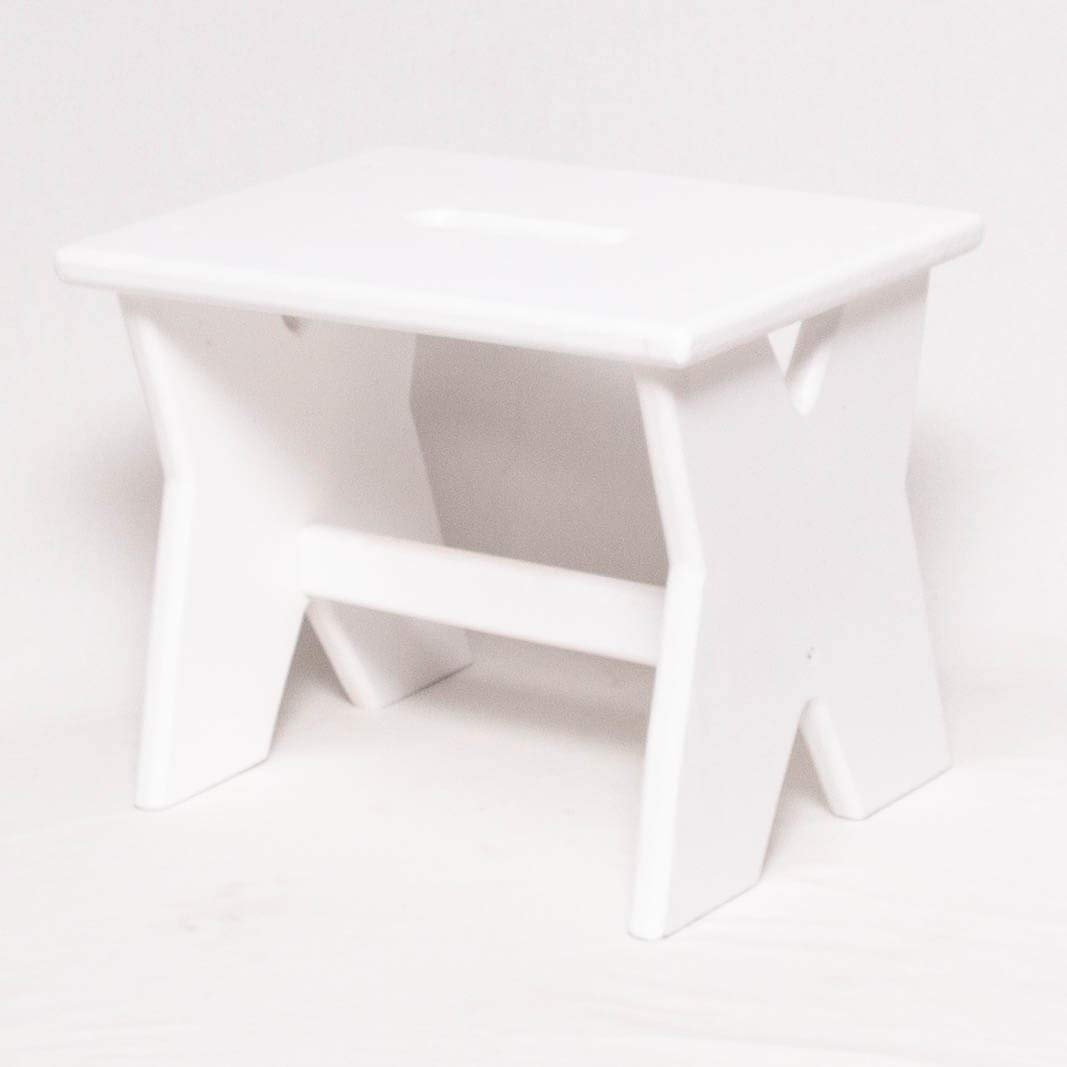 Get Quotations Step Stool Wooden Pine 1 11 High Tall