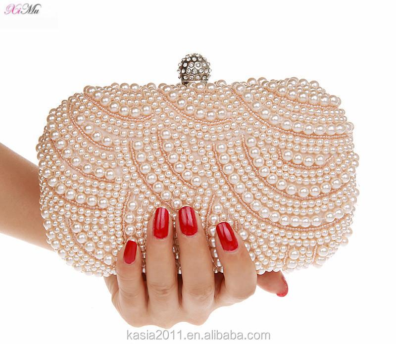 Women's Bags Buy Cheap 2019 New Evening Bags Lady Pearl Tassel Clutch Night Purse Wedding Shiny Diamonds Handbags Womens Bag Pink Mini Handbag 2color Skillful Manufacture