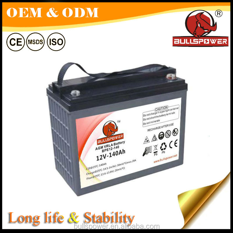 24V 48V 12v 140ah agm vrla motive electric car batery for electric tricycle