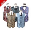 2019 Hot Selling Fashion Design Casual Vests 100 Polyester Paisley Wedding Waistcoats for Men