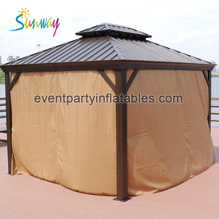 metal toproof outdoor aluminum frame gazebo, pop up gazebo garden shelter