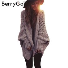 BerryGo batwing sleeve long maxi cardigan sweaters 2015 women fall fashion Autumn winter warm knitted jumpers oversized