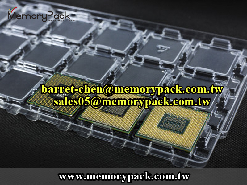 CPU ESD tray packaging for Intel CPU LGA 1155 / Socket H2 Computer Processors