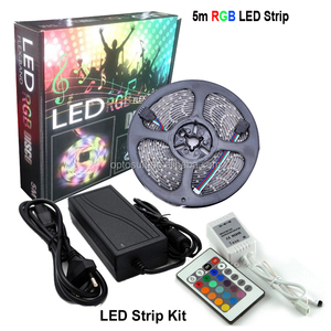 Waterproof 5050 Rgb Led Strip Kit 300led/5m Rgb Strip + 24key&Ir Remote Controller + 12v 6a Driver 5050 Kit Led Strip