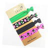 Customer Designed Hair Band Knotted Decorative Wholesale Elastic Hair Ties
