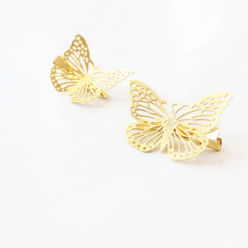 Gold Plated Butterfly <strong>Hair</strong> Clip <strong>Hair</strong> Pin Bridal <strong>Hair</strong> <strong>Accessory</strong> for Gift