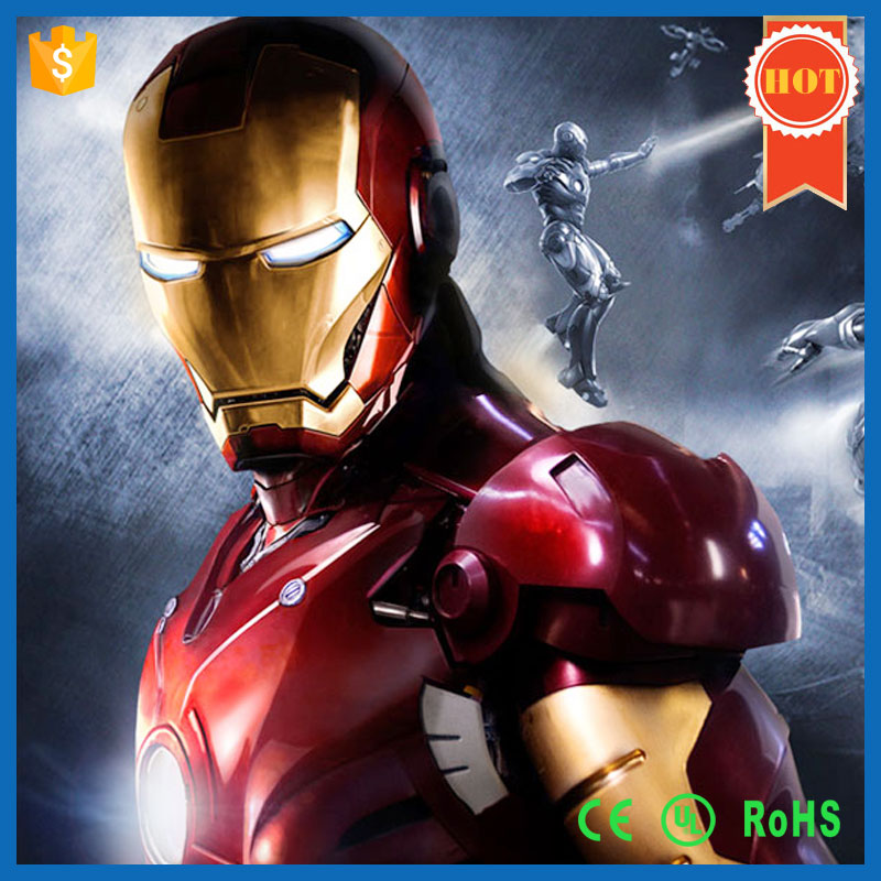Factory Hot Sale Halloween Costume Iron Man Mascot Costume