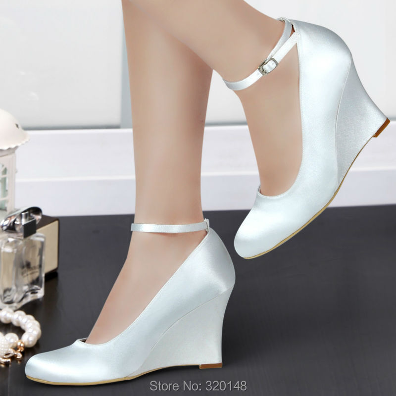Aliexpress.com : Buy A610 Ivory Wedges Shoes Round Toe