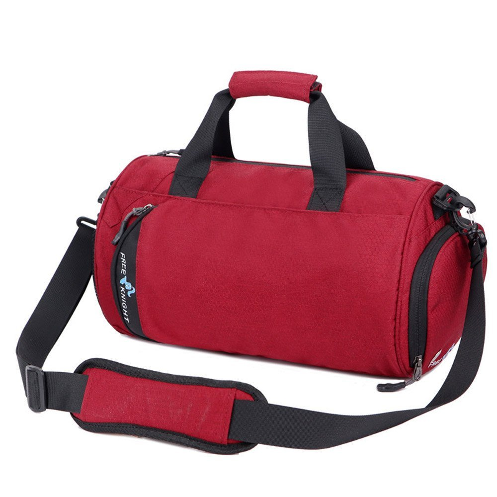 Water Resistant Duffel Bag, Barrel Travel Sports Bag Sports Outdoor Gym Bag Handbag Training Backpack Travel Bag Duffel With Shoulder Strap Zippered Shoes Compartments