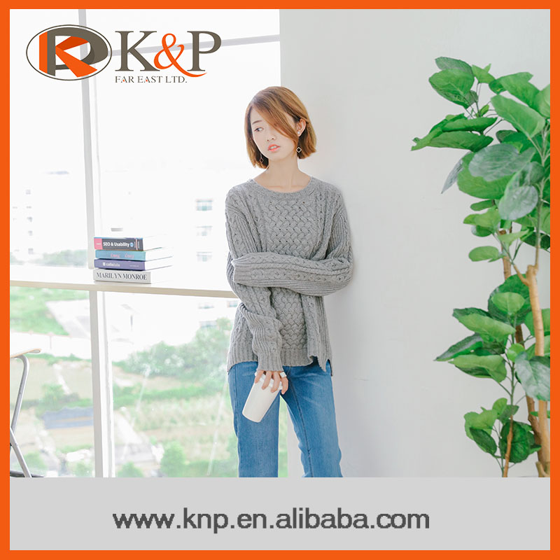 2016 New products hot sale long sleevel young ladies sweater pullover