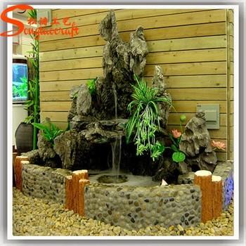 Hochzeit Dekoration Harz Wasser Brunnen Gefälschte Stein Wände Garten  Kleinen Wasserfall Brunnen Brunnen Innen